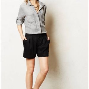 Black Pleated Shorts from Anthropologie
